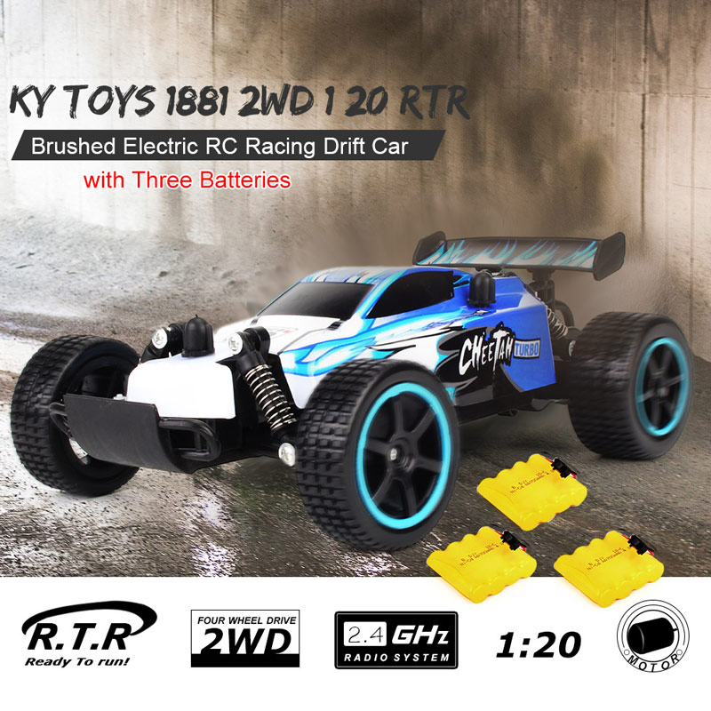 $4 OFF KY 1881 2.4GHz 20km/h Brushed RC Car,free shipping $22.99