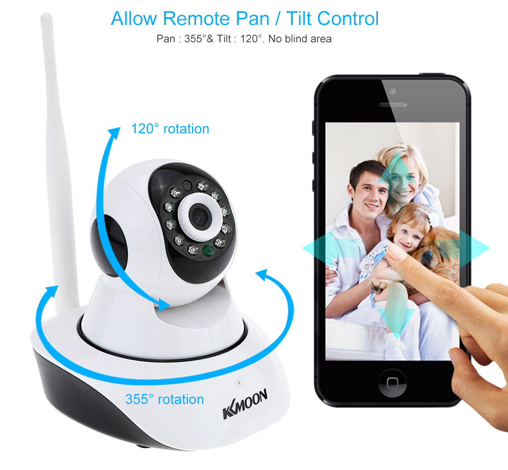 KKmoon® TP-C549T Security 1080P Indoor HD IR Night Vision IP WIFI Wireless  Home CCTV Camera