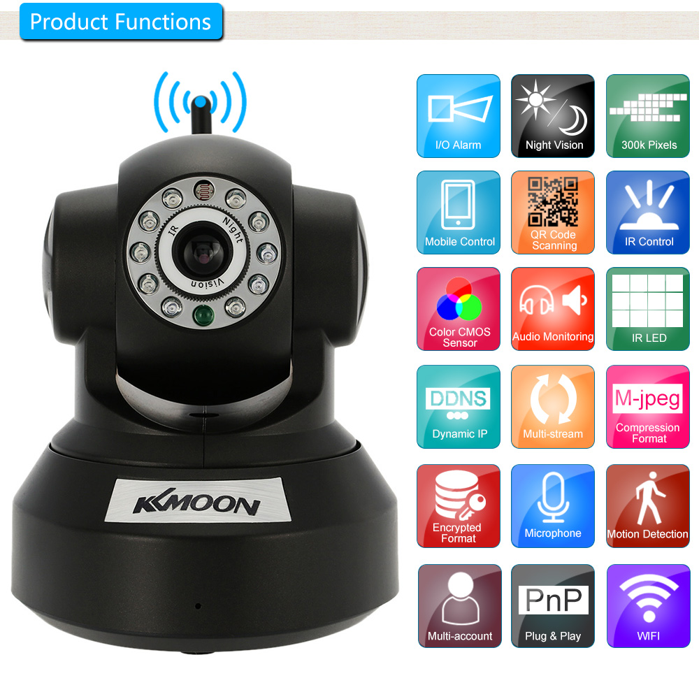 2CH 960P Wireless Camera System NVR Pan Tilt Audio Network CCTV Security IR Cut