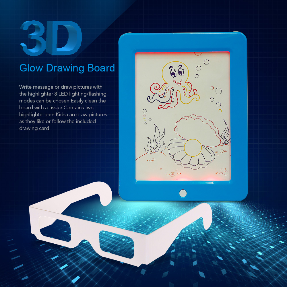 Best 3d glow drawing board diy design station writing pad for 3d drawing online