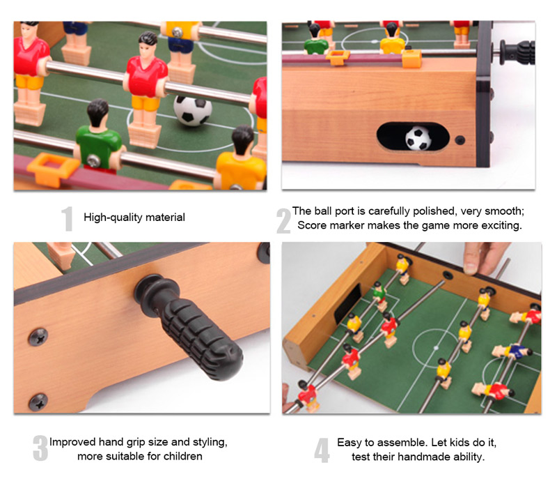 Quick, Easy Assembly Soccer Game Table, And Score Markers For Each Goal.  360° Rotated Built In Soccer Figures, 4 Rows, 3 Players Each Row, 2 Rows  For Each ...