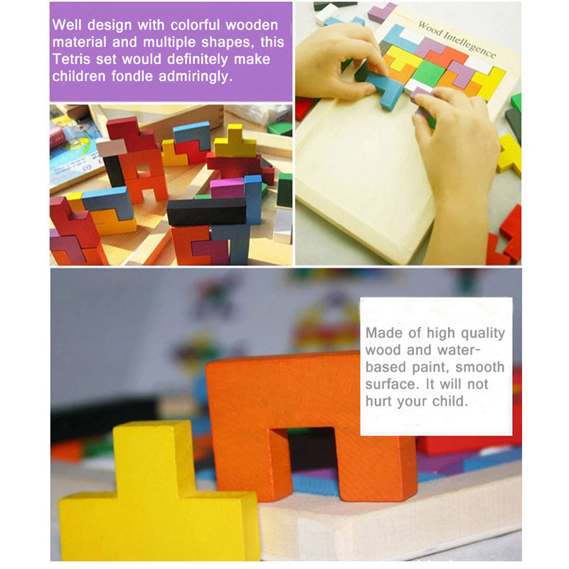 $2 OFF Colorful Wooden Tangram Jigsaw,free shipping $5.99