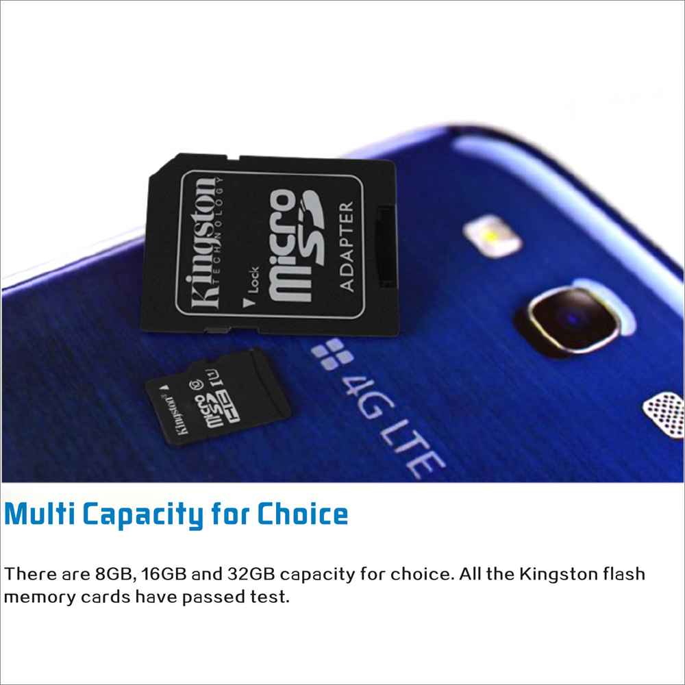 Kingston Class 10 8gb 16gb 32gb 64gb Microsd Tf Flash Memory Card Samsung Micro Sd 4gb Essential 48mb S Maximal Speed With Adapter Sales Online 64g Tomtop